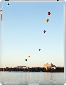 iPad case - Canberra Balloon Festival #1 by Odille Esmonde-Morgan