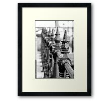 ice cream cones in metal Framed Print