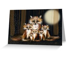Fox Family Greeting Card