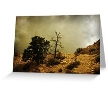 Two Trees, Stormy Weather Greeting Card