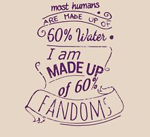 I am made up of 60% FANDOMS Womens Fitted T-Shirt