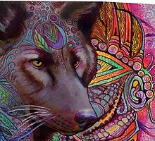 Wow Wolf by artistsuetaylor