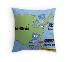 GBP golfe du mexique marée noire comique Throw Pillow