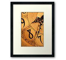 8 O'Clock Shadow Framed Print