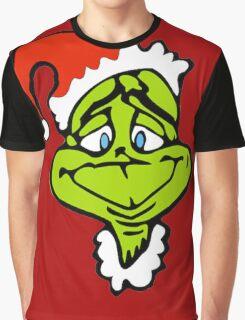 Santa The Grinch Christmas Graphic T-Shirt