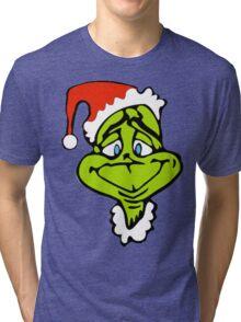 Santa The Grinch Christmas Tri-blend T-Shirt