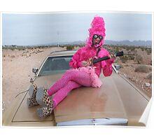 Pink Guitar Freak Poster