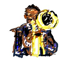 Jazz trumpetist by Grobie