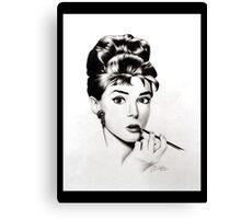 Audry Hepburn Canvas Print