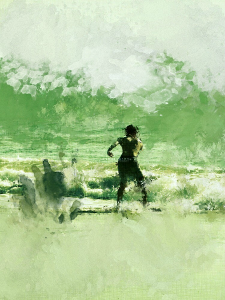 IMPRESSION - SOUL SURFER EMERALD by Laura E  Shafer