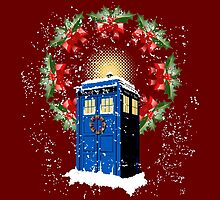 A WARM & COMFORTABLE TARDIS IN THE SNOWSTORM  by karmadesigner