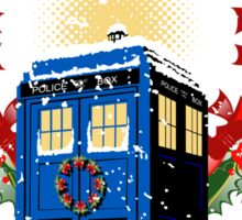 A WARM & COMFORTABLE TARDIS IN THE SNOWSTORM  Sticker