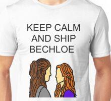 Keep Calm and Ship Bechloe. Unisex T-Shirt