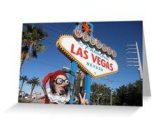 Peace Jester in Las Vegas Greeting Card