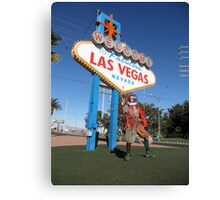 Court Jester in Las Vegas Canvas Print