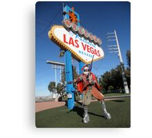 Juggle Jester in Vegas Canvas Print