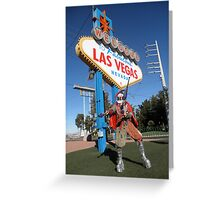 Juggle Jester in Vegas Greeting Card