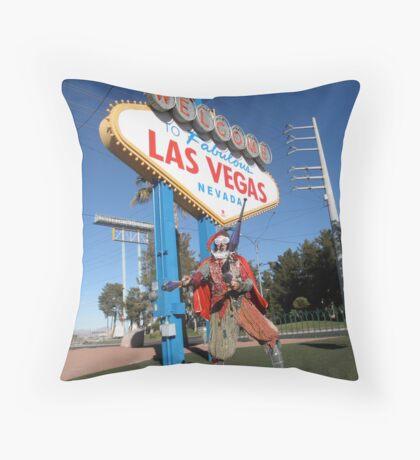 Juggle Jester in Vegas Throw Pillow