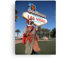 Ladybird Jester in Vegas Canvas Print