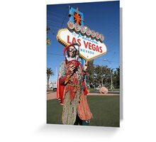 Ladybird Jester in Vegas Greeting Card