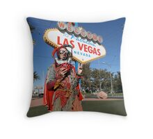 Ladybird Jester in Vegas Throw Pillow