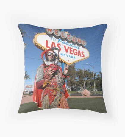 Ladybird Jester in Vegas Throw Pillow