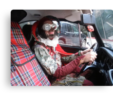 Jester Driving Canvas Print
