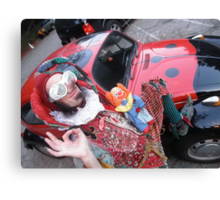 Court Jester & His Beetle Canvas Print