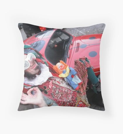Court Jester & His Beetle Throw Pillow