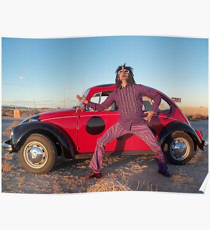 Rocker in the Desert Poster