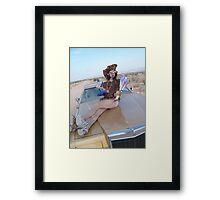 Leopard Juggler Framed Print