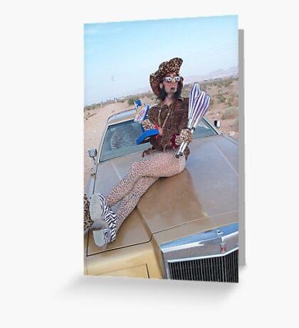 Leopard Juggler Greeting Card