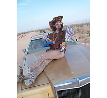 Leopard Juggler Photographic Print