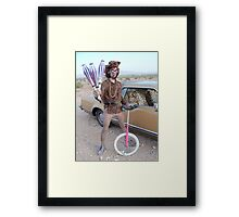 Juggler & Unicycle Clown Framed Print