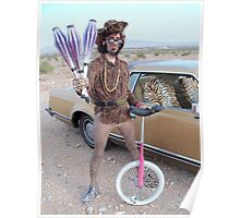 Juggler & Unicycle Clown Poster