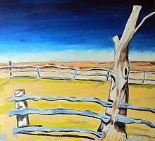 Outback Gumtree by gillsart