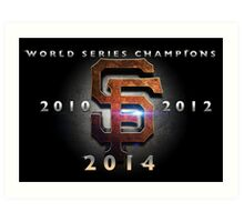 SF Giants World Series Champs X 3 MOS Art Print