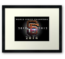 SF Giants World Series Champs X 3 MOS Framed Print