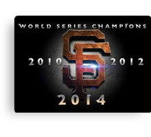 SF Giants World Series Champs X 3 MOS Canvas Print