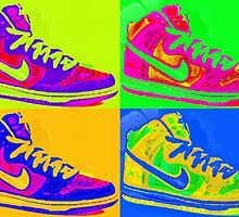 Nike Sneakers Pop Art by Arts4U