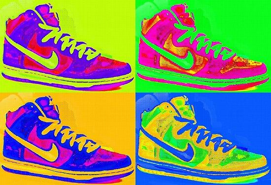 Nike Sneakers Pop Art by Arts4U