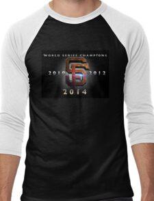SF Giants World Series Champs X 3 MOS Men's Baseball ¾ T-Shirt