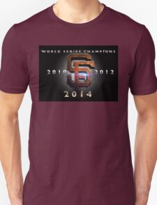 SF Giants World Series Champs X 3 MOS Unisex T-Shirt