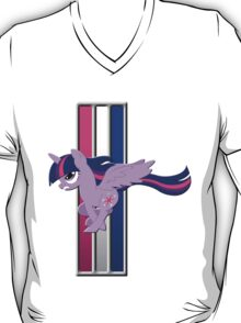Mustang Twilight Sparkle (Alicorn) (Logo) T-Shirt