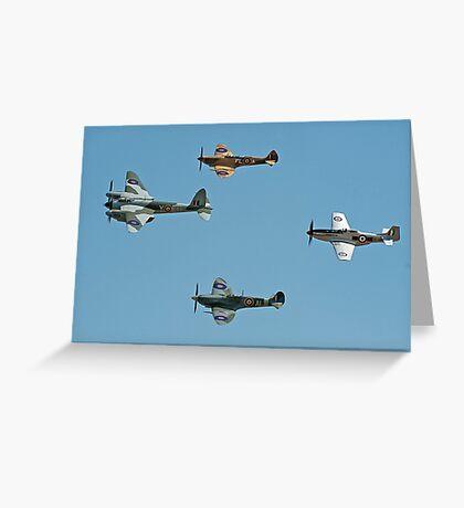 WW2 Flypast Greeting Card
