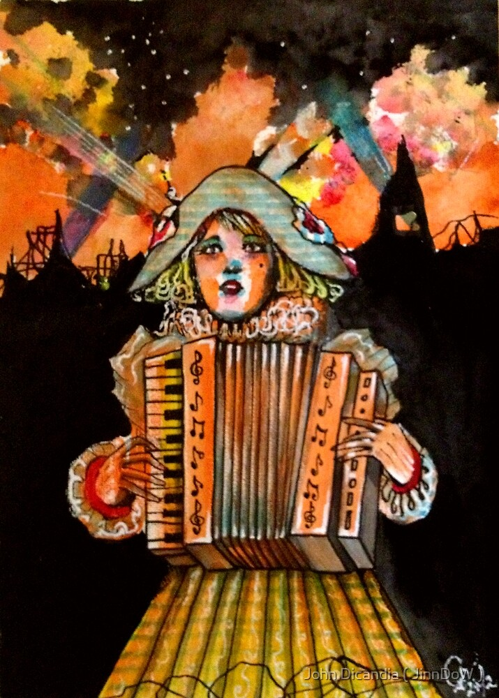 When she awoke, the world was on fire. by John Dicandia ( JinnDoW )