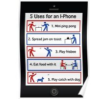 Different uses for an IPhone Poster
