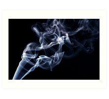 Blue smoke in the air Art Print