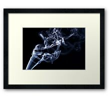 Blue smoke in the air Framed Print