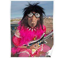 Pink Glam Rock Queen Poster